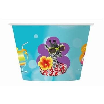 Obrázek Papírové kelímky na zmrzlinu Havajské 6 ks