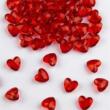 Obrázek Diamantové konfety červené srdce