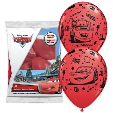 Obrázek Latexové balonky Disney Cars - Auta 6 ks