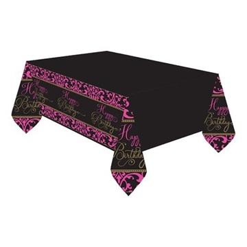 Obrázek Plastový party ubrus Pink Chevron 137 x 259 cm