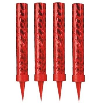 Obrázek Dortové fontánky červené 12 cm - 4 ks