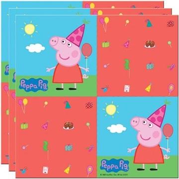 Obrázek Papírové party ubrousky prasátko Peppa - folat 20 ks