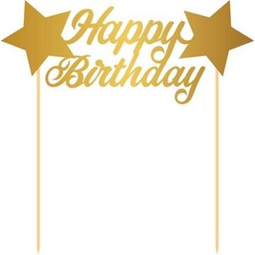 Obrázek Dekorace na dort Happy Birthday