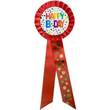 Obrázek Narozeninový odznak  Happy BDay