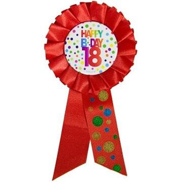 Obrázek Narozeninový odznak Happy BDay 18