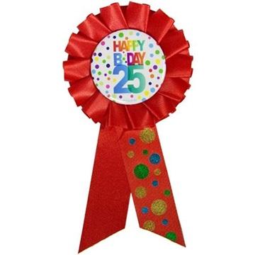 Obrázek Narozeninový odznak Happy BDay 25