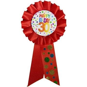 Obrázek Narozeninový odznak Happy BDay 30