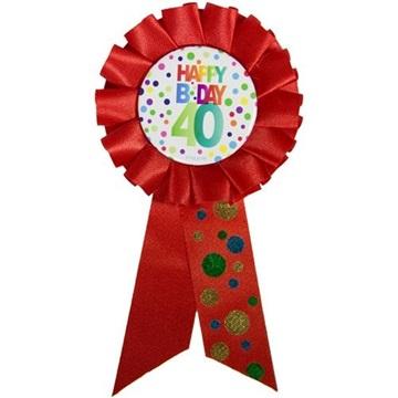 Obrázek Narozeninový odznak Happy BDay 40