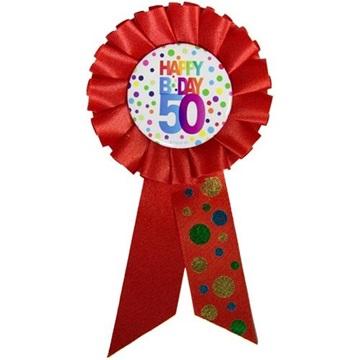 Obrázek Narozeninový odznak Happy BDay 50