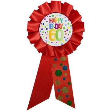 Obrázek Narozeninový odznak Happy BDay 60