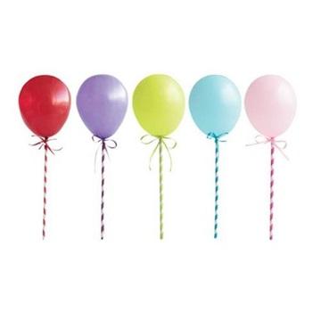 Obrázek Dekorace na dort duhové balonky 5 ks