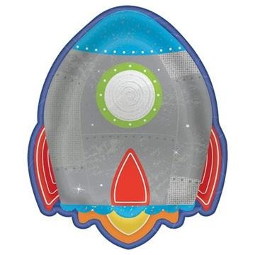 Obrázek Papírové party talířky Vesmír 18 cm