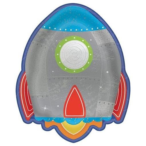 Obrázek z Papírové party talířky Vesmír 18 cm