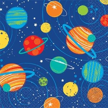 Obrázek Papírové ubrousky Vesmír 16 ks