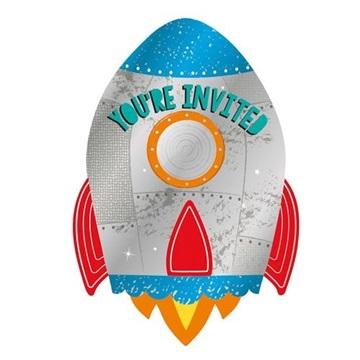 Obrázek Party pozvánky Vesmír 8 ks