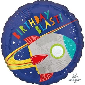 Obrázek Foliový balonek Vesmír Birthday Blast 45 cm