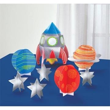 Obrázek Papírová dekorace na stůl Vesmír