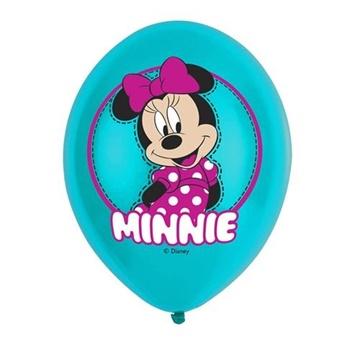 Obrázek Latexové balonky Minnie Mouse barevný potisk 27 cm - 6 ks
