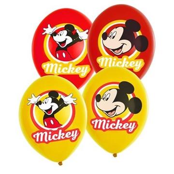 Obrázek Latexové balonky Mickey Mouse - barevný potisk 6 ks