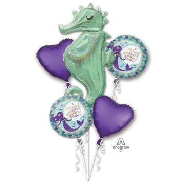 Obrázek Sada foliových balonků Mořská panna - 5 ks