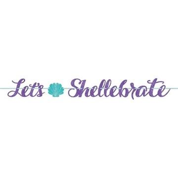 Obrázek Party nápis Mořská panna Lets Shellebrate 365 cm