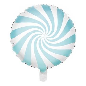 Obrázek Foliový balonek bonbón světle modrý 45 cm