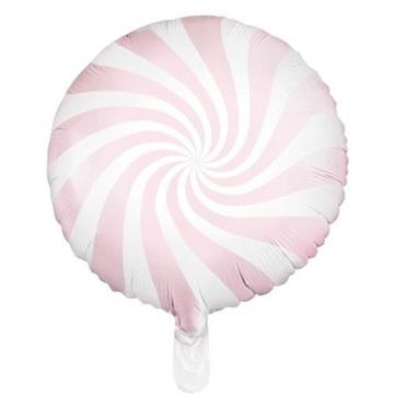 Obrázek Foliový balonek bonbón světle růžový 45 cm