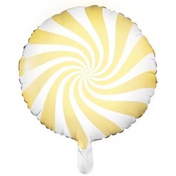 Obrázek Foliový balonek bonbón světle žlutý 45 cm