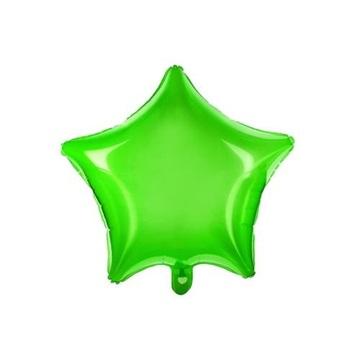 Obrázek Foliový balonek hvězda zelená transparentní 48 cm