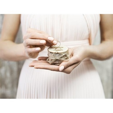 Obrázek Dřevěný špalík na prstýnky 6 cm
