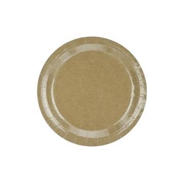 Obrázek Papírové talíře Kraft 23 cm