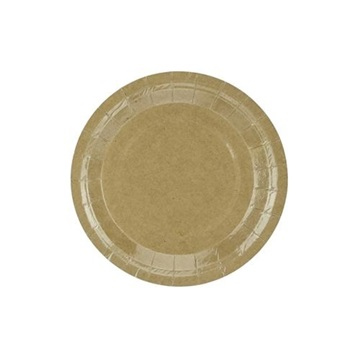 Obrázek Papírové talířky Kraft 18 cm