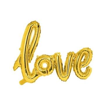 Obrázek Foliový balonek nápis Love ve zlaté barvě