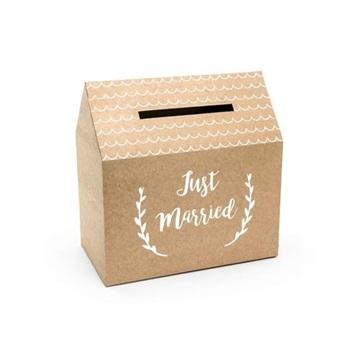 Obrázek Papírová truhlice na přání Kraft Just Married