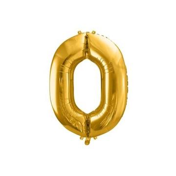 Obrázek Foliová číslice - zlatá 0 - 86 cm