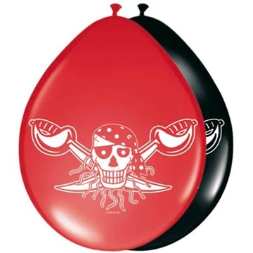 Obrázek Latexové balonky Red Pirate 8 ks