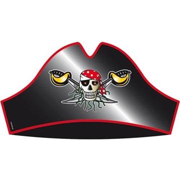 Obrázek Party čepičky Red Pirate 8 ks