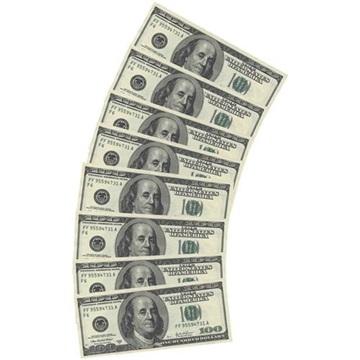 Obrázek Papírové party ubrousky Dolary 10 ks