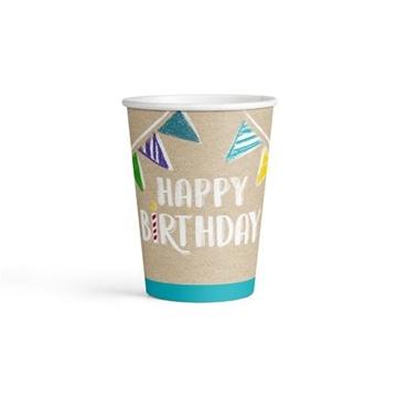 Obrázek Party papírové kelímky My Birthday 8 ks