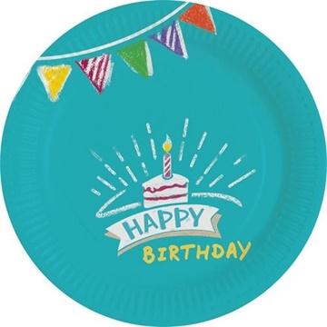 Obrázek Party papírové talířky My Birthday 18 cm
