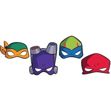 Obrázek Party masky Želvy Ninja 8 ks