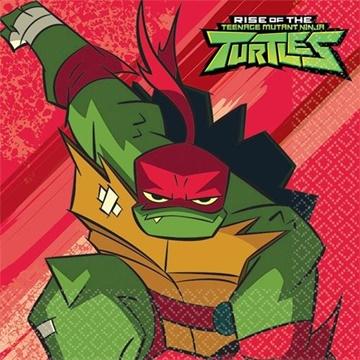 Obrázek Papírové party ubrousky Želvy Ninja 16 ks
