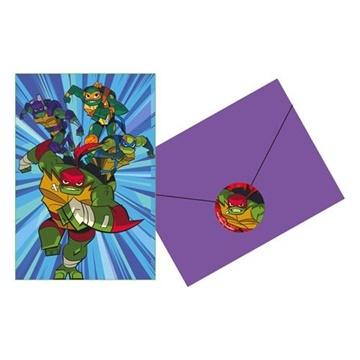 Obrázek Party pozvánky Želvy Ninja 8 ks