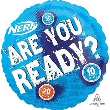 Obrázek Foliový balonek Nerf - Are you ready 45 cm
