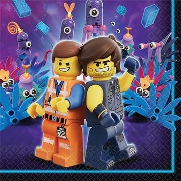 Obrázek Papírové party ubrousky Lego 16 ks