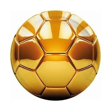 Obrázek Party papírové talíře Fotbal Gold party 23 cm