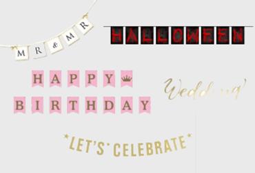 Obrázek pro kategorii Girlandy a bannery s nápisem