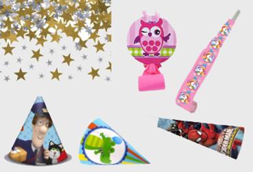 Obrázek pro kategorii Party čepičky, konfety, frkačky a serpentiny