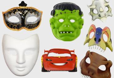 Obrázek pro kategorii Party masky a škrabošky