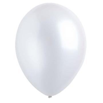 Obrázek Dekorační balonky perleťové bílé 28 cm - 50 ks